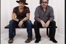 Tim Burton Jonnhy Depp e Helena Bohamer Carter / Fotooo