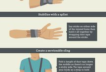First Aid for the Outdoors / You brought your first aid kit while camping, hiking, or rafting?  How do you use it?  Here are some tips.