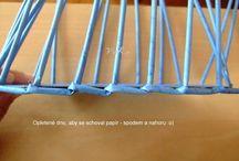 papierové pletenie košíkov pedig