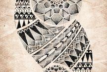 Polynesian Mandala Geometric tattoo ideas