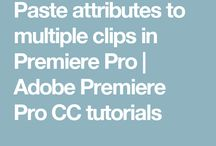 Photography Premiere Pro Tips
