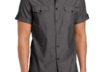 Kenneth Cole Men's Double Pocket Chambray Shirt