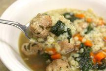 Soup / Italain chicken wedding soup