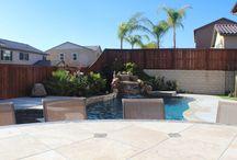Backyard Oasis / The back yard and pool / by Maurice DeFino