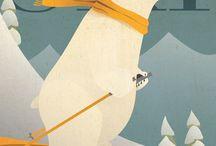 affiche ski vintage