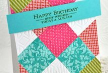 Cards - made with scraps of paper