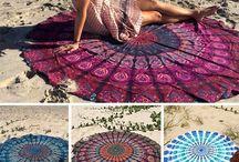 Beach yoga towel