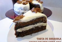 tarta de cocacola / tarta de cocacola fácil receta casera paso a paso  http://www.golosolandia.com/2014/10/tarta-de-cocacola.html