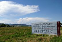 Seven Stones Chatfield Construction / Construction begins on the botanical gardens cemetery near Roxborough Park outside Denver. The vision is taking shape, with water features and undulating paths. The views and the sky here are stunning! DiscoverSevenStones.com