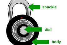 Opening comb locks