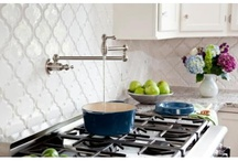 My beveled arabesque dream kitchen / #beveledbacksplash