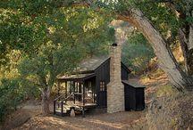 Cabaña con chimenea