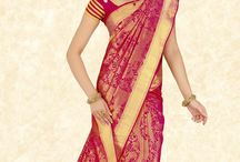 kanchipuram silk saree bridal red