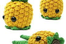 crochet fruits