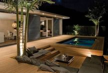 Patio/pool / by Laurie Hicks