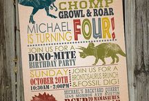 Dinosaur Party / Planning ideas for a dinosaur birthday party. Invitations, decorations, cakes, party favors all things Dinosaur!