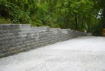 Retaining Walls by Custom Stoneworks & Design Inc. Balto. MD / Different retaining walls we have built.