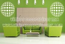 Decorar salas de estar con vinilos decorativos / by Vinilos Decorativos MX Mexico Decoracion de interiores con vinil decorativo