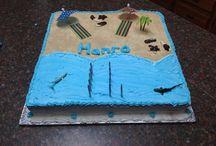 Beach theme / Birthday cake