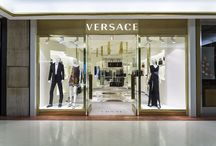 Versace boutiques / A meeting point between the past and the future, the new #Versace boutiques opened worldwide blend skillfully the traditional architectural values of Italy with the dynamism of Versace today.