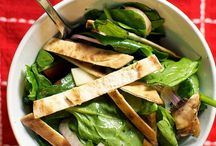healthy spinach salads