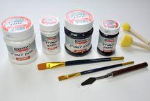 Festési techikák- pentart temékekkel
