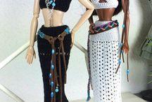 Barbie dress / Crochet barbie dress