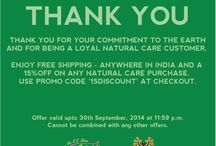 Green Consumer Day OFFER / 15% #off on all Natural Care Purchases + #free #shipping