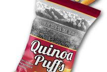 Quinoa Puffs / Quinoa Puffs, Organic Quinoa, baked not fried, gluten free. From Andes Montains.