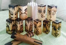wood pyrography / pyrographic works