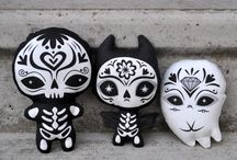 Dia de los Muertos / All things sugar skull art. Buckle up buttercup.
