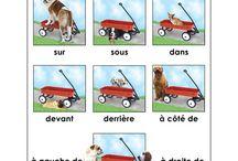 French - Vocab (Prepositions) / by Jenn Campanella