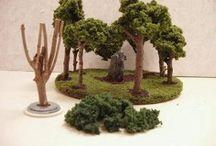 Arboles, plantas y pasto  para el Belén. Grass