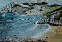 Playa San Julian / Huile sur toile
