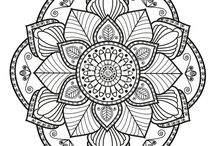 Mandala for Jo / So I'm thinking about putting a mandala or some other pretty design on your flower press. Do you like any of these pictures or can you please pick something you'd like me to use? Thanks.