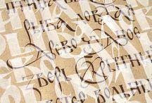 calligraphy & typographical