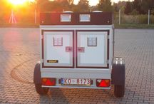 Trailers for dog transportation. adno.pl products / Trailers created with passion and with attention to every detail.