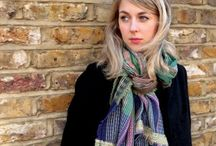 Scarves made in England / Beautiful wool, cashmere, and silk scarves created in England by London design team Wallace and Sewell.