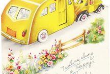 Vintage camper graphics