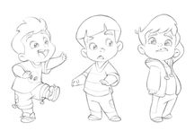 Model sheet little boy