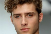 Men's curly hair