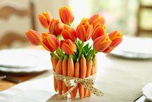 Centrotavola fiori e verdure