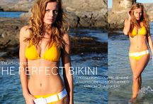 Bond Girl @ the beach / Inspired by the Bond girl, we designed this Silk & Beach bikini