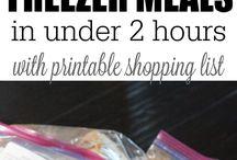 Freezer meal plans / by Kim Allen Boone