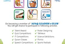 AFAQ Leader's Club / AFAQ Leaders' club is established in 2009 to bring a positive change in the society through character education of new generation. This club has wide variety of activities with innovative ideas that inspire children of all ages, and many outdoor sport activities which encourages them to develop their skills while having fun.