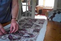 Quilt As You Go - QAYG / Use some of your fancy stitches on your machine to quilt you  QAYG blocks