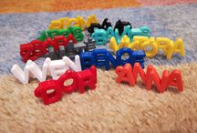 3D Printed Keychains / Personalised 3D printed keychains from multicolor material. You can order many creative cool things of 3d prints at Manubim.