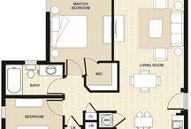 Two Bedroom Apartment in Miami, FL / Floorplan