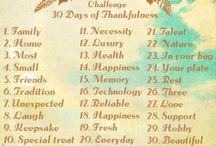 30 Days Thankful 2013 / Gratefulness, Thankful