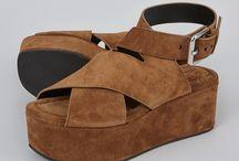 Sandal wedges rata